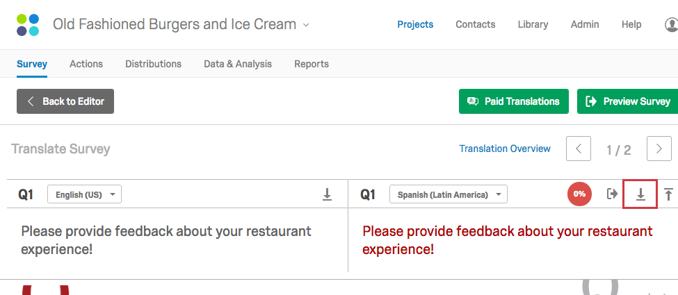 Translate Survey Qualtrics Support