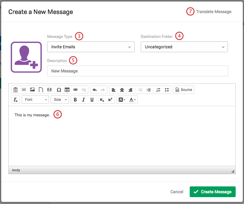 Messages Library - Qualtrics Support