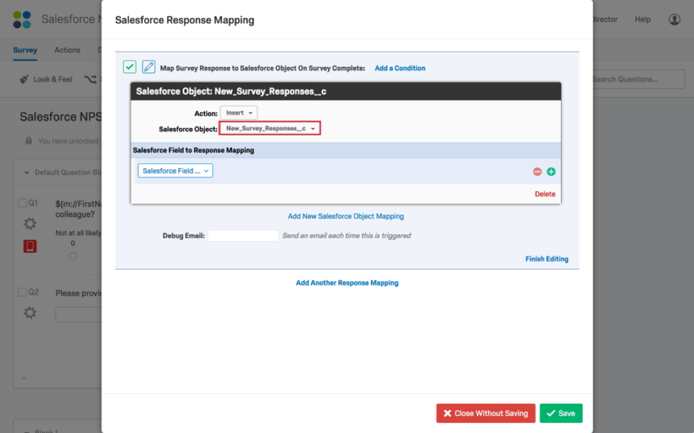 Salesforce response mapping qualtrics support fandeluxe Gallery