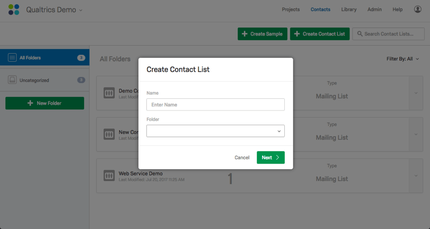 Creating a Contact List - Qualtrics Support