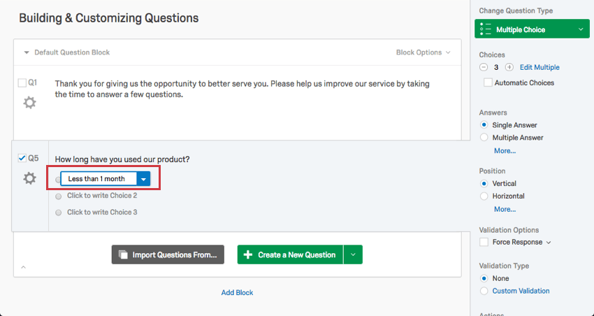 Formatting Questions - Qualtrics Support