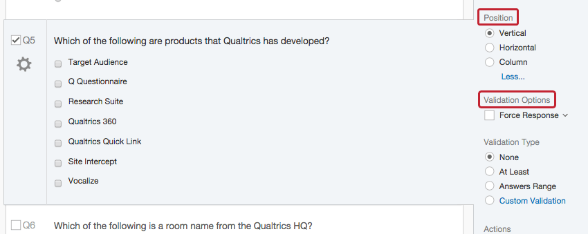 Multiple Choice Question - Qualtrics Support