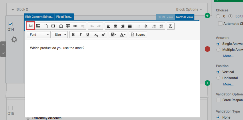 Piped Text - Qualtrics Support