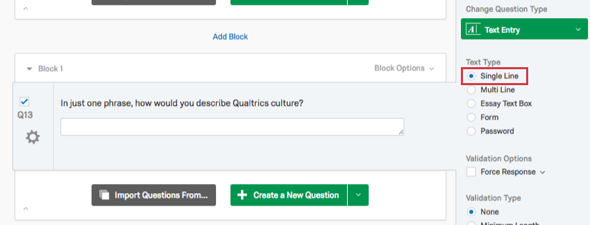 Text Entry Question - Qualtrics Support