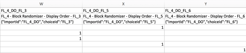 CSV with display order columns
