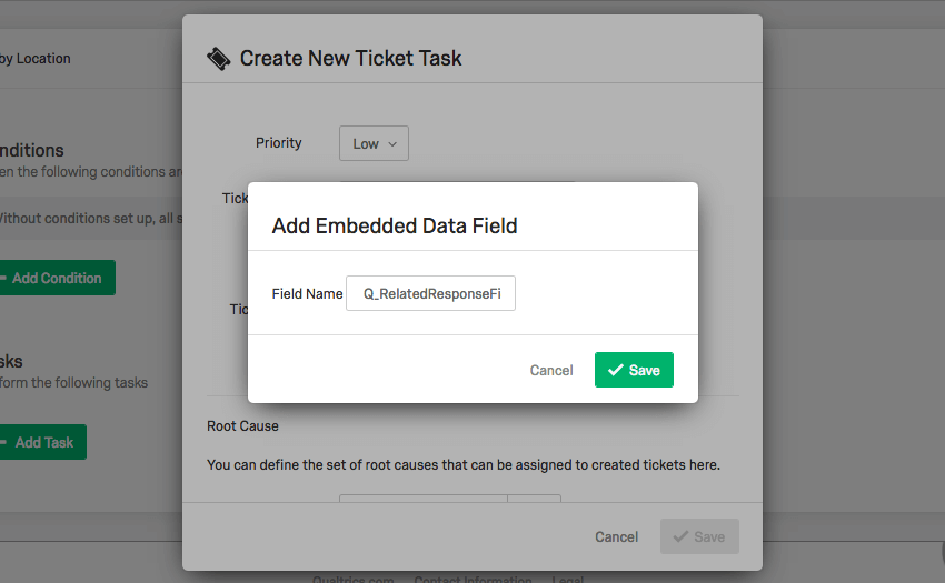Type Q_RelatedResponseField in Add Embedded Data Field menu