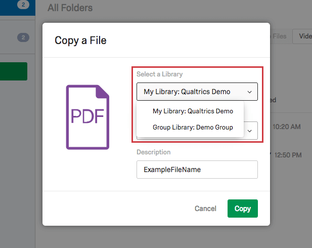 Files Library - Qualtrics Support