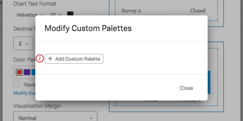 add custom palette button in the center of the modify custom palettes window