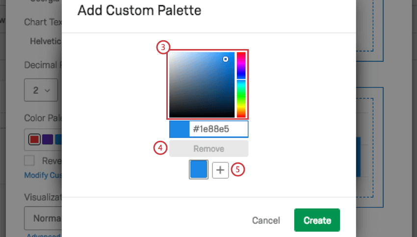 add custom palette window where you select colors