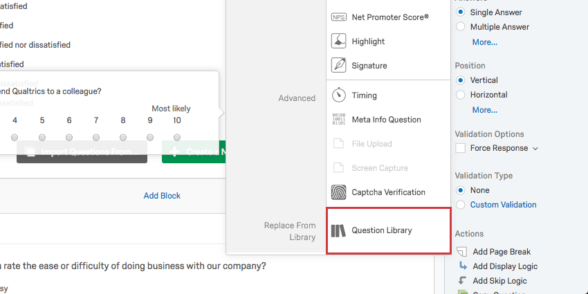 question types qualtrics support