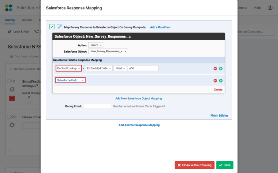 Salesforce Response Mapping Qualtrics Support