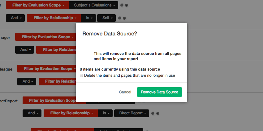 Removing a data source