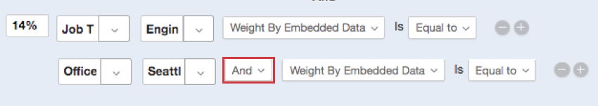Example variable weight condition