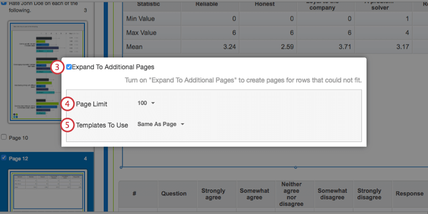 Expand to additional pages options