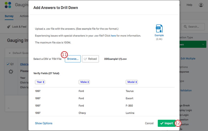 Drill down question qualtrics support fandeluxe Images