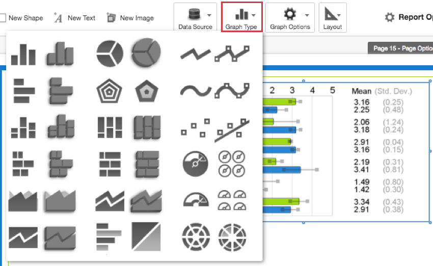 graphs basic overview 360 qualtrics support