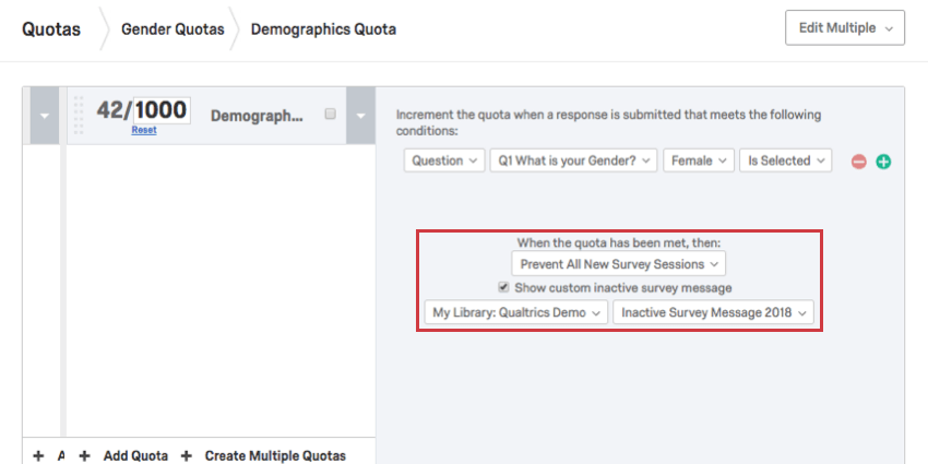 Quotas Qualtrics Support