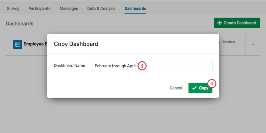Naming a dashboard
