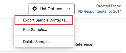 Export Sample Contacts