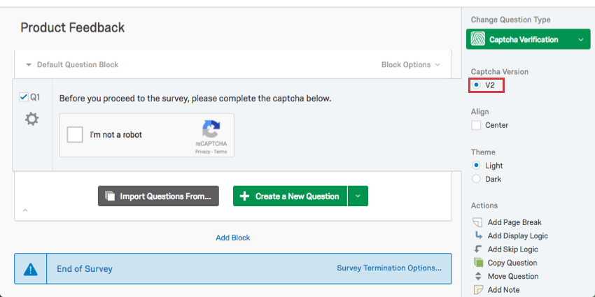 254e272b4c3 Captcha Verification Question - Qualtrics Support