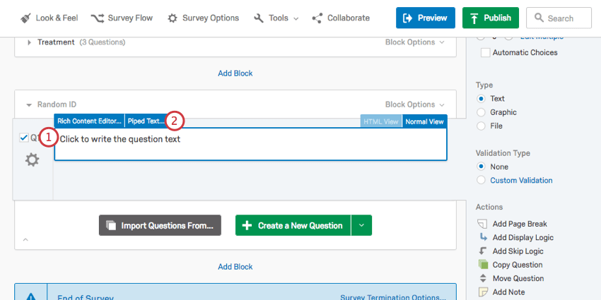 Assigning Randomized IDs to Respondents - Qualtrics Support