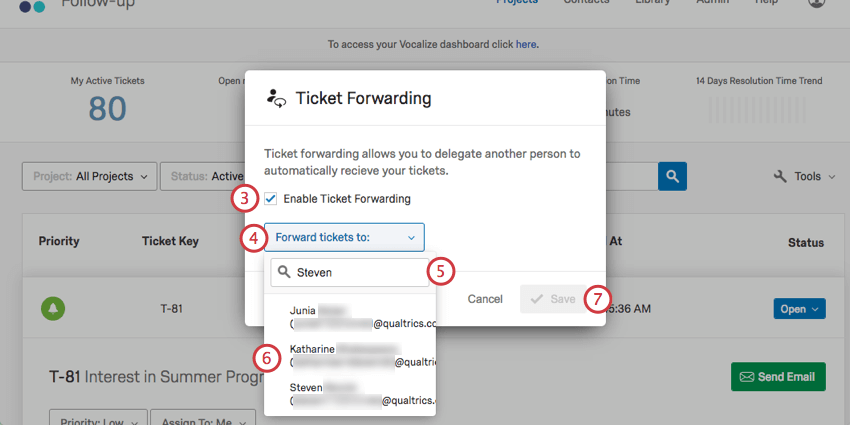Ticket forwarding qualtrics support deciding who gets tickets while you are gone fandeluxe Image collections