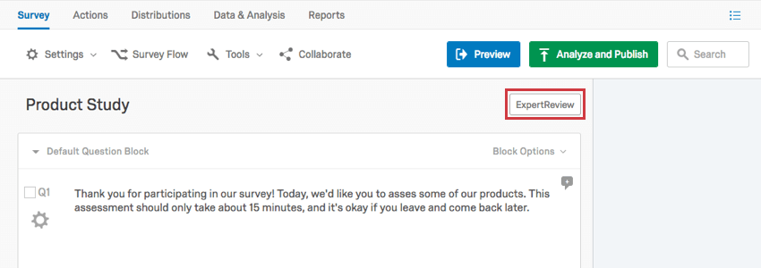 ExpertReview Functionality - Qualtrics Support
