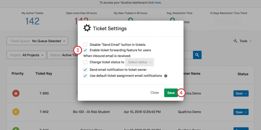 Ticket forwarding qualtrics support enabling and disabling for a brand fandeluxe Image collections