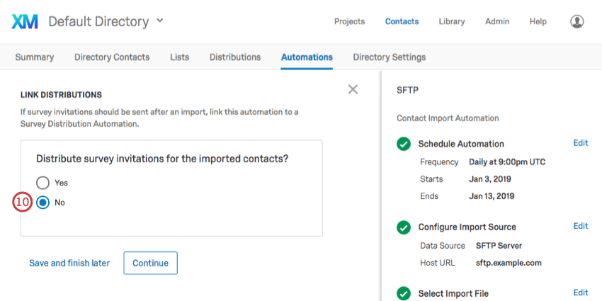 Contact Import Automation - Qualtrics Support