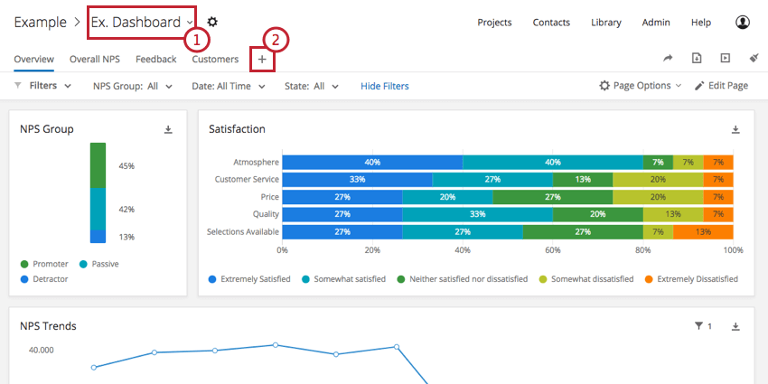 Step 2: Creating CX Dashboard Pages - Qualtrics Support