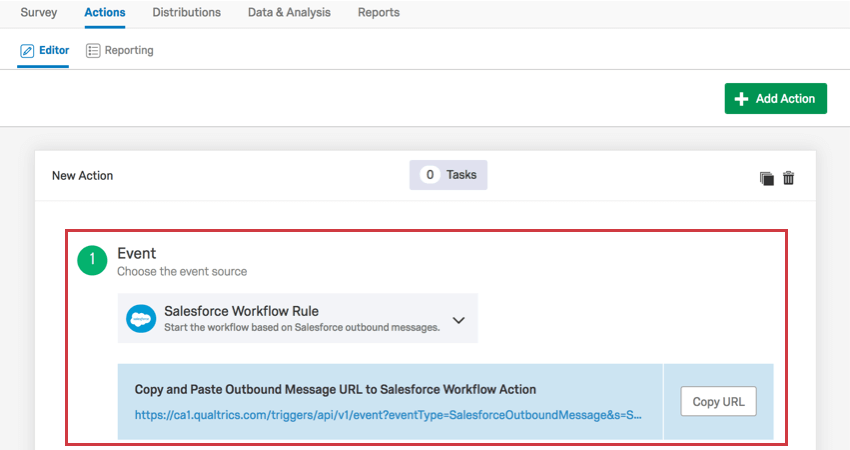 Salesforce Workflow Rule Event - Qualtrics Support
