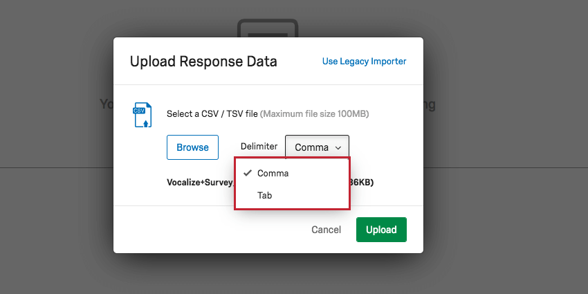 Import Responses - Qualtrics Support