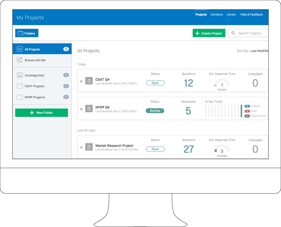 online survey software tool screen