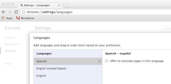 Browser Language Preference