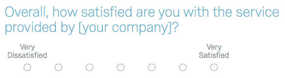 How satisfied are you survey question