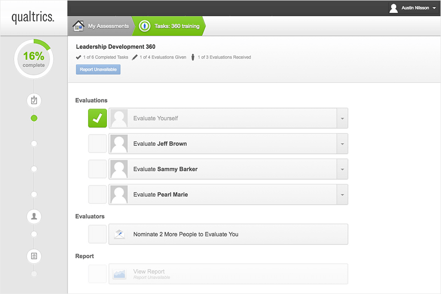 Employee 360 Tasks Dashboard